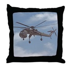 Sky Crane Throw Pillow