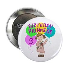 "9th Birthday Princess 2.25"" Button (10 pack)"