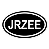 JRZEE New Jersey Black Euro Oval Decal