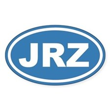 JRZ New Jersey Blue Euro Oval Decal