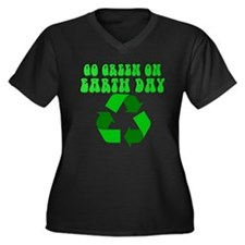 Go green on earth day - recyc Women's Plus Size V-