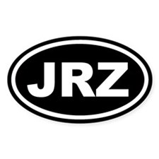 JRZ New Jersey Black Euro Oval Decal
