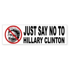 Anti Hillary Clinton Bumper Bumper Sticker