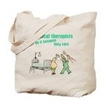 Female Physical Therapist Tote Bag