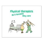Female Physical Therapist Small Poster