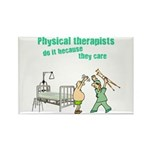 Female Physical Therapist Rectangle Magnet (10 pac