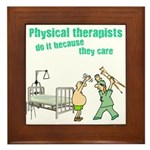 Female Physical Therapist Framed Tile