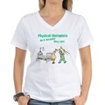 Female Physical Therapist Women's V-Neck T-Shirt