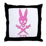 DYE (pink) Throw Pillow