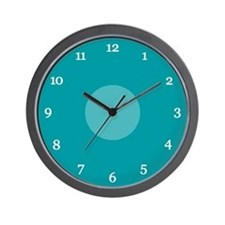 Teal Wall Clock (15W)