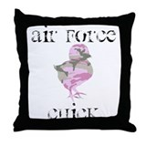 Air Force Chick Throw Pillow