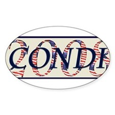 Condi Oval Decal