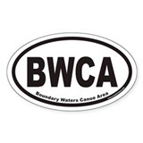 BWCA Boundary Waters Canoe Area Euro Oval Decal