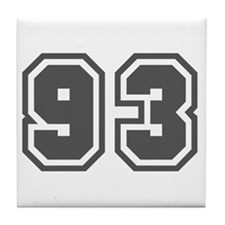 Number 93 Tile Coaster