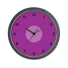 Purple Wall Clock (21B)