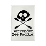 Kayaking Pirate Rectangle Magnet