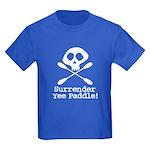 Kayaking Pirate Kids Dark T-Shirt