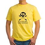 Kayaking Pirate Yellow T-Shirt