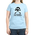 Kayaking Pirate Women's Light T-Shirt
