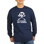 Kayaking Pirate Long Sleeve Dark T-Shirt
