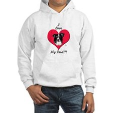 Border Collie Father's Day Hoodie