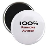 100 Percent Pensions Adviser 2.25&quot; Magnet (10 pack