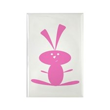 PINK BUNNY Rectangle Magnet (100 pack)