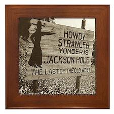 Vintage Jackson Hole Framed Tile