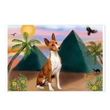Basenji at the Pyramids Postcards (Package of 8)