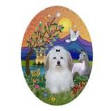 Fantasy Land/Coton Oval Ornament