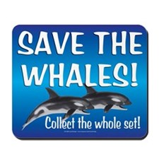 Mouse Pads O'Happiness Save-the-Whales (Orca)