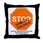 """Toledo NOW """"Stop Domestic Violence"""" Throw Pillow"""