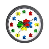 Autism Peace Symbol Wall Clock