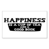 Tea &amp; A Good Book Rectangle Decal