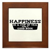 Tea & A Good Book Framed Tile