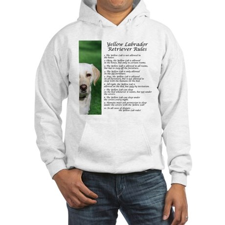 Yellow Lab Rules Hooded Sweatshirt