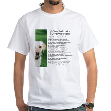 Yellow Lab Rules White T-Shirt