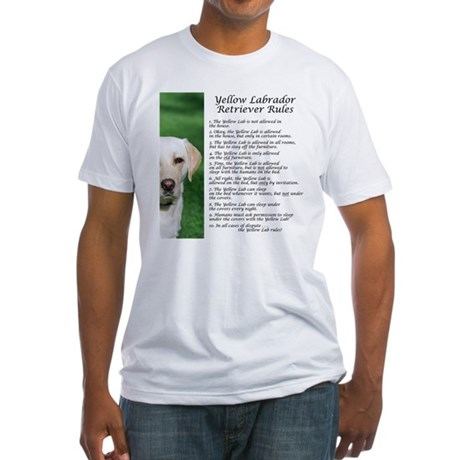 Yellow Lab Rules Fitted T-Shirt
