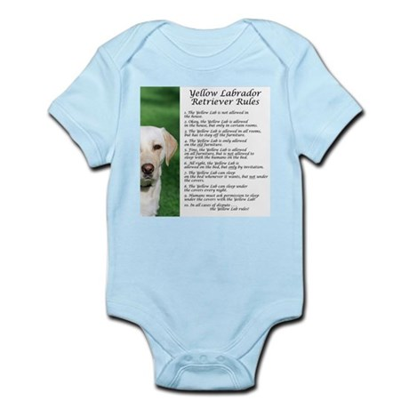 Yellow Lab Rules Infant Bodysuit