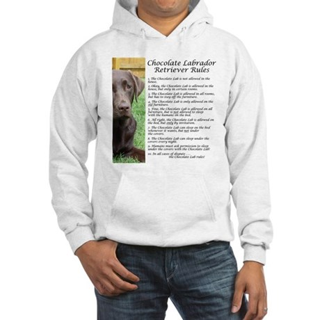 Chocolate Lab Rules Hooded Sweatshirt