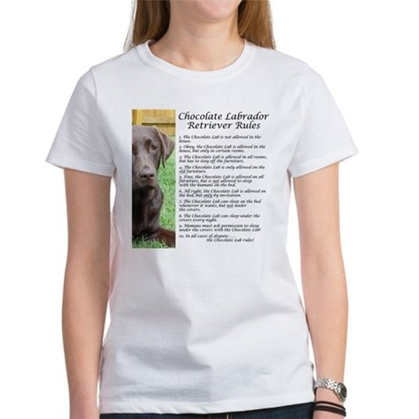 Chocolate Lab Rules Women's T-Shirt