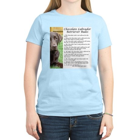 Chocolate Lab Rules Women's Light T-Shirt