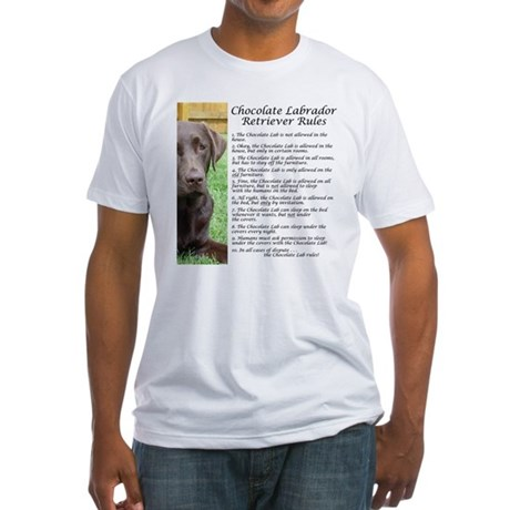 Chocolate Lab Rules Fitted T-Shirt