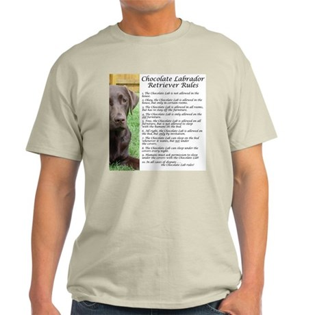 Chocolate Lab Rules Light T-Shirt