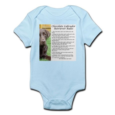 Chocolate Lab Rules Infant Bodysuit