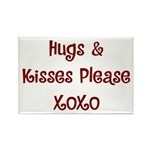 Hugs and Kisses Rectangle Magnet (10 pack)