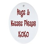 Hugs and Kisses Oval Ornament