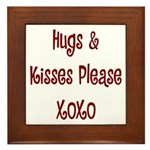 Hugs and Kisses Framed Tile