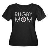 Rugby Mom Women's Plus Size Scoop Neck Dark T-Shir