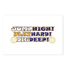 VolleyBall Play Hard Postcards (Package of 8)